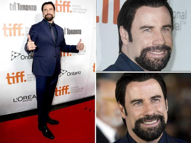 Actor John Travolta seen at the premiere of The Forger at Roy Thomson Hall during the 2014 Toronto International Film Festival on Friday, September 12, 2014 in Toronto. (Agencies)