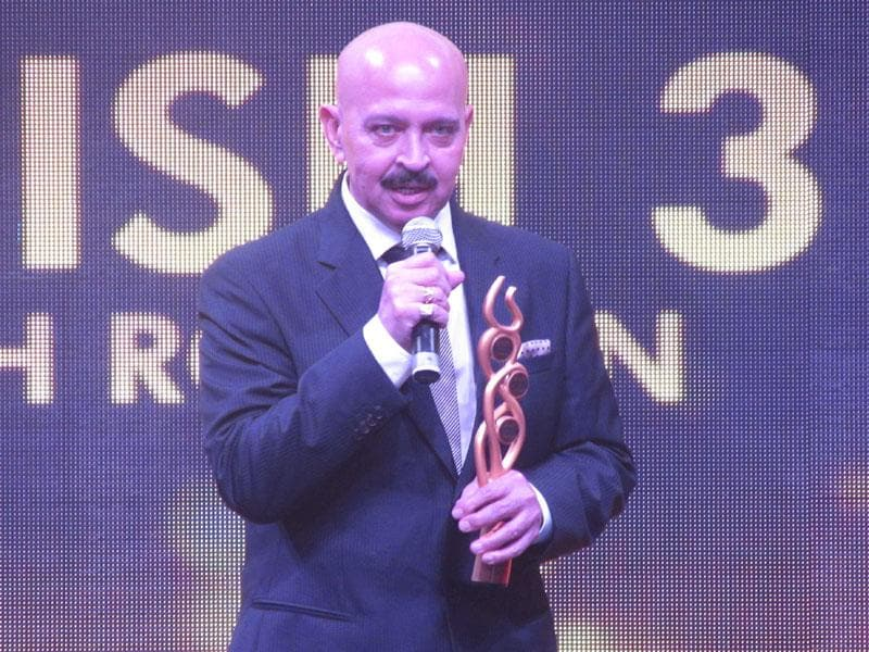 Rakesh Roshan at the event which aimed to bring together all three pillars of bollywood, art and fashion.