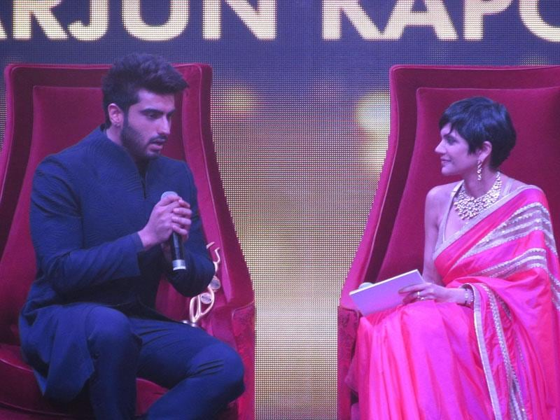 Arjun Kapoor in conversation with Mandira Bedi at the Singapore Youth Icon of the Year, which celebrates the contributions and talent of the best in the fields of bollywood, fashion & art, in Singapore.