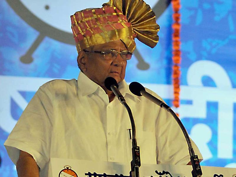 The BJP's impressive showing in Maharashtra has dashed the hopes of the Sharad Pawar-led Nationalist Congress Party to retain its national party status.. (Uday Deolekar/HT file photo)