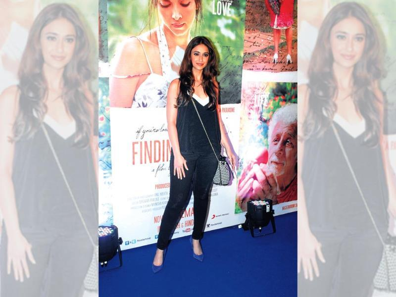 Ileana D'Cruz poses for the shutterbugs at the success bash of Finding Fanny.