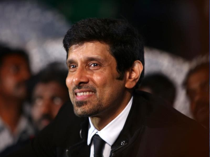 A beaming Vikram at the audio launch of I in Chennai.