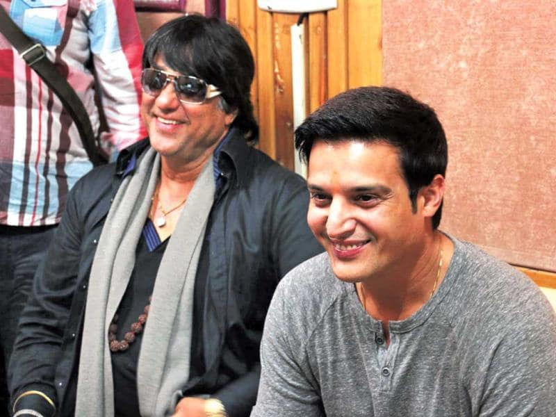 Mukesh Khanna and Jimmy Sheirgill –– both seen after a long time –– were at a suburban recording studio. And for some reason, in spite of being inside a closed door venue, the former was seen wearing sunglasses(Photo: Yogen Shah)