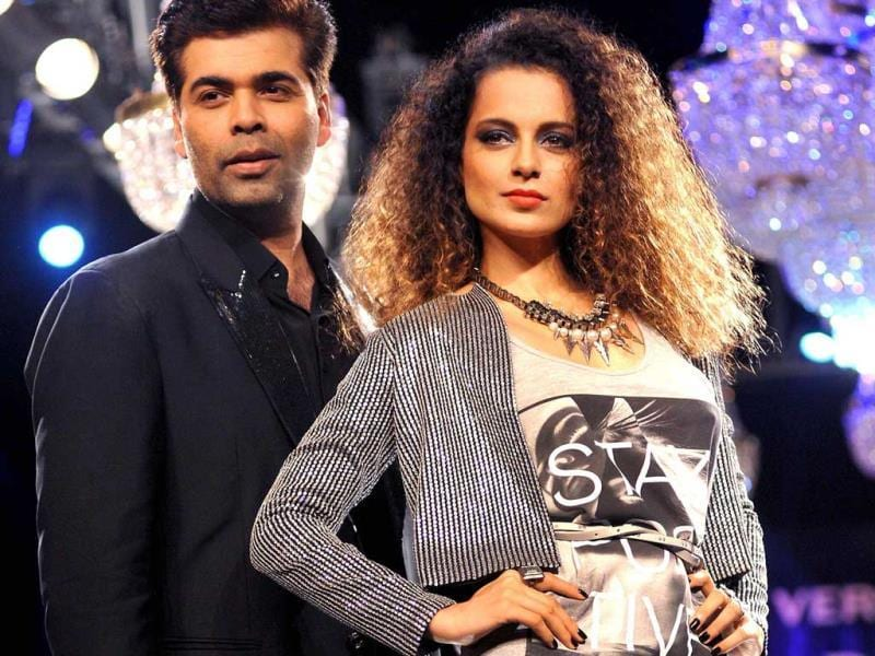 Kangana Ranaut recently walked the ramp as a showstopper for director turn designer Karan Johar. KJo designed for Vero Moda's Marquee collection. (Photos: AFP)