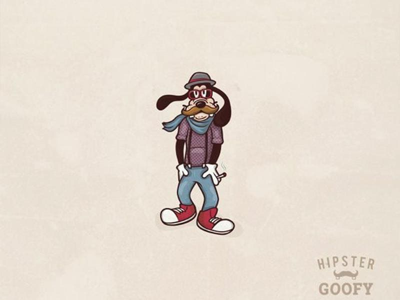 Goofy goes hipster, as imagined by GJR. (Cortesy: DesignCrowd)