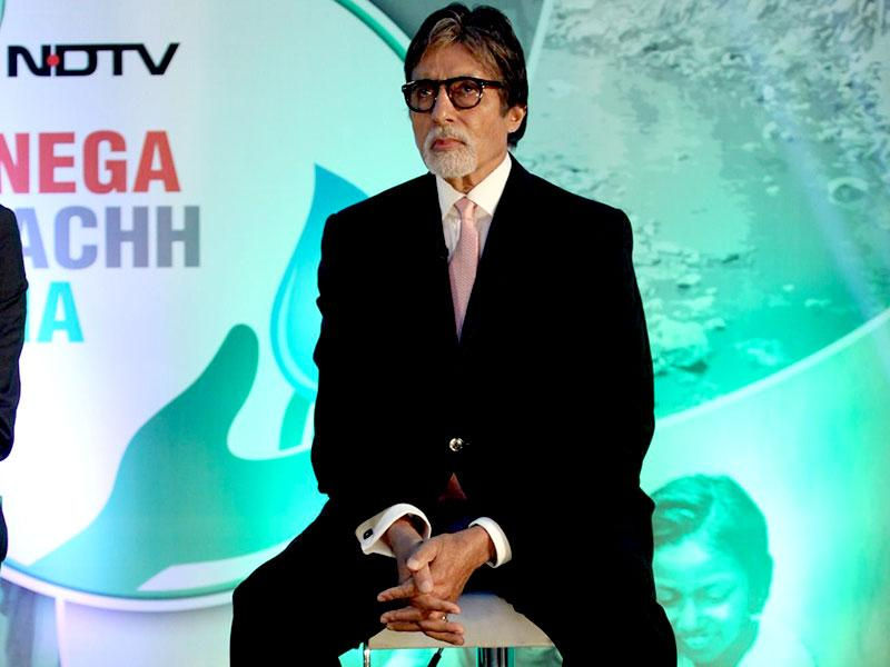 Actor Amitabh Bachchan during the launch of Dettol Banega Swachh India a five-year-nationwide programme by Reckitt Benckiser in Mumbai, on September 25, 2014. The programme spreads awareness about the importance of hygiene and sanitation to millions across the country. Amitabh Bachchan is the programme ambassador for the campaign. (IANS)