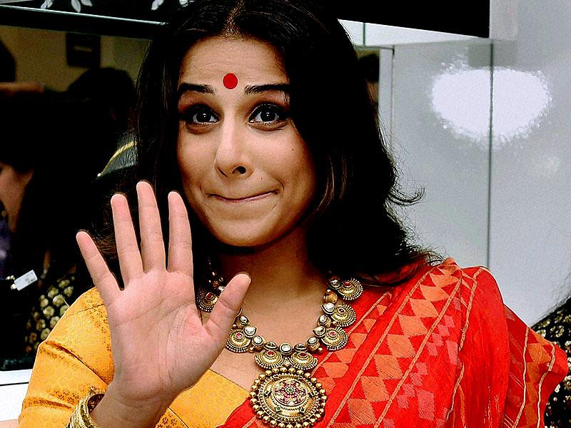Bollywood actress Vidya Balan during a promotional event in Kolkata. (PTI Photo by Swapan Mahapatra)