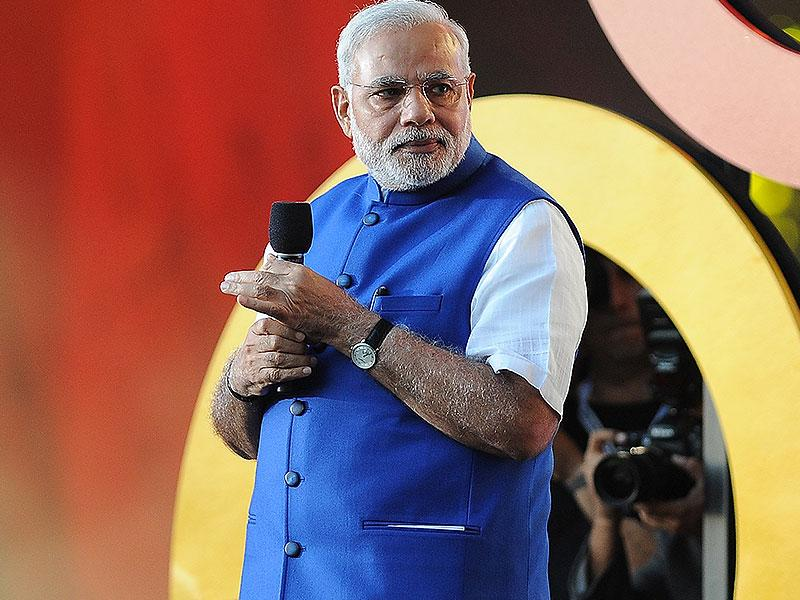Prime Minister of India Narendra Modi speaks at the 3rd Global Citizen Festival at Central Park in New York. (AP photo)