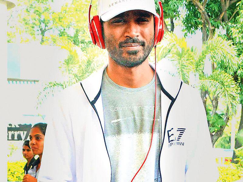 Dhanush was spotted outside the Mumbai airport. (Photos: Yogen Shah)