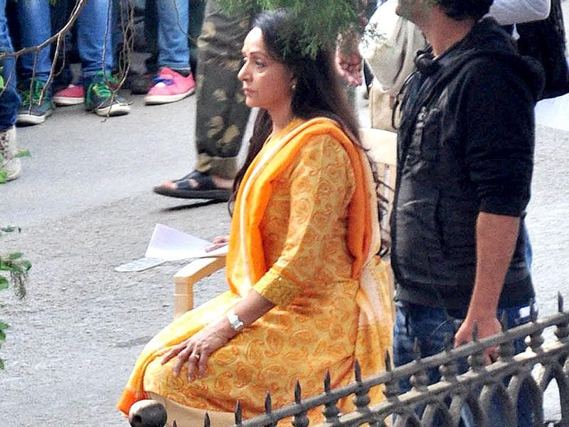 Hema Malini on the sets of her upcoming film Shimla Mirchi. (Photo: Santosh Rawat/Hindustan Times)