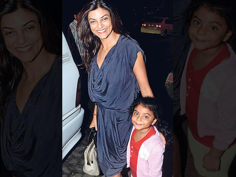 Sushmita Sen, about to enter her car, was spotted in Bandra, Mumbai. (Photo: Yogen Shah)