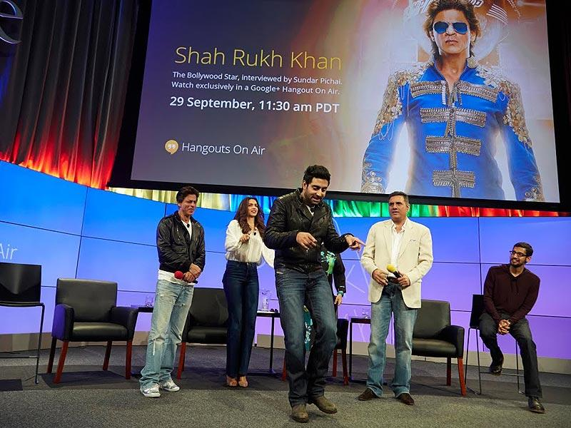 Abhishek Bachchan breaks into a jig at the Google office.