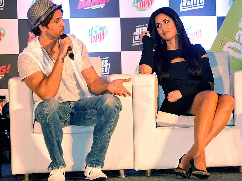 Hrithik, Katrina's latest film Bang Bang is playing in the theatres now. (AFP Photo)
