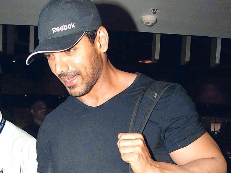 John Abraham, who's become reclusive over the last few months, was spotted at the Mumbai airport. (Photo: Yogen Shah)