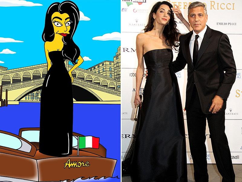 Amal's black off-shoulder dress earned great applause and there was no reason to ignore this one.
