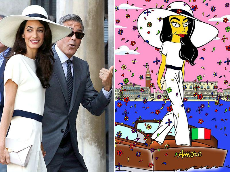 Even Clooney seems to be asking us to check out the cartoonized version in this one!
