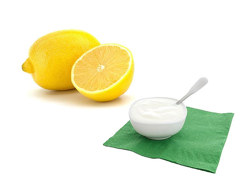 Yoghurt and lemon hair mask: Mix ½ cup of yoghurt with 1 teaspoon of lemon. Apply to hair, covering each strand, leave it on for 20 mins and then wash it off with cold water.