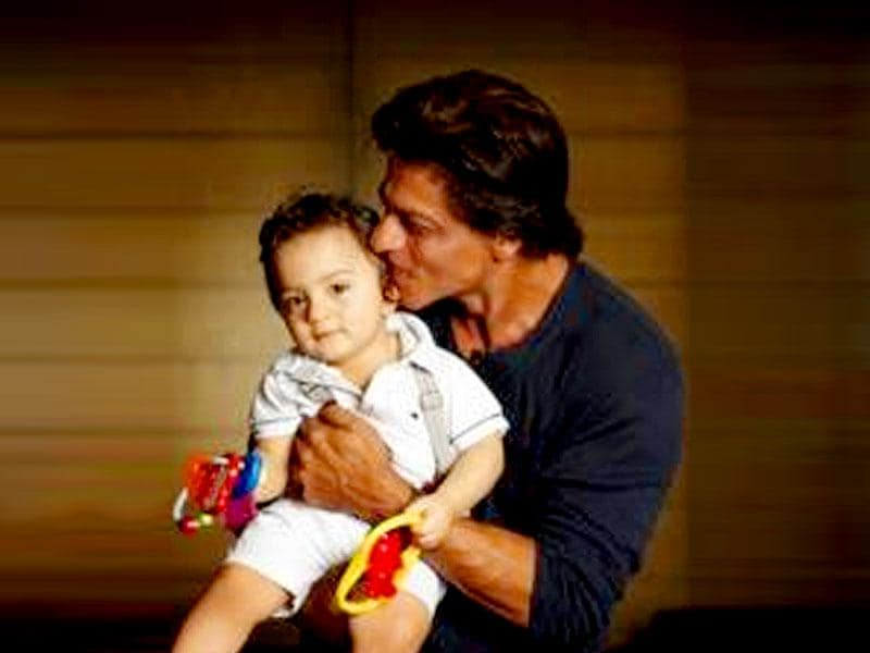 A carbon copy of his famous father, little AbRam has been making news ever since he was born. On Eid this year, Shah Rukh gave us a glimpse of his third child who was born through surrogacy. (Courtesy: Twitter)