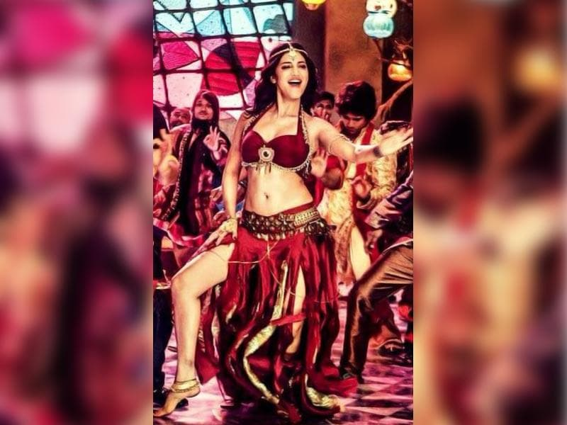 Shruti Hassan in a still from Madamiya, her song in Tevar.
