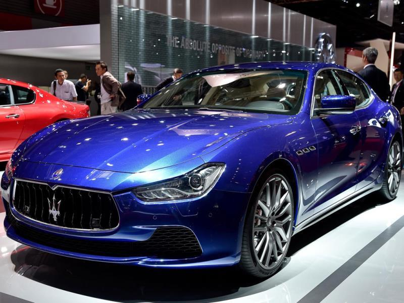 Maserati Ghibli : Yet in 2012 the world's most luxurious automotive brands – Bentley, Rolls-Royce, Mercedes, BMW, Maserati and even Porsche -- started embracing darker, richer browns for some of their most important models. Photo:AFP