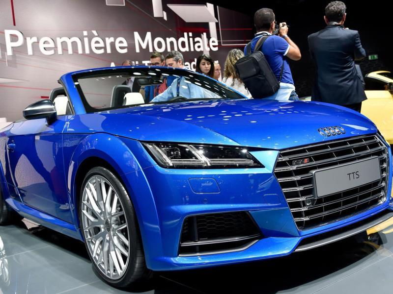 The Audi TTS Roadster : A quick head count at each stand suggests at least 16 new models and concepts from the major manufacturers are sporting the color at this year's event. And, the color of concepts at motorshows tends to become the consumer color of choice. Photo:AFP
