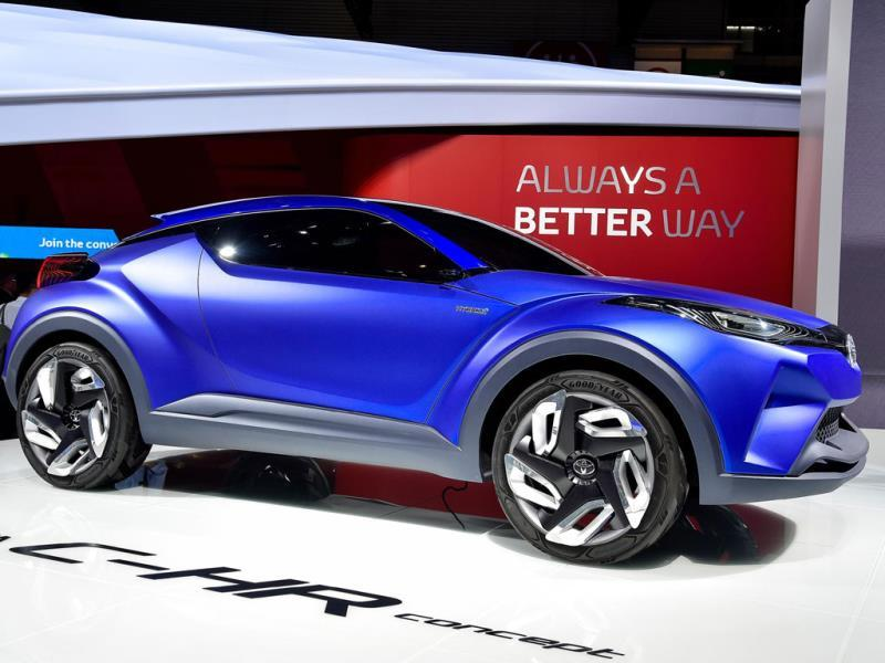 Toyota C-HR Concept : Quite literally. Take a look at pretty much any stand at this year's event, currently dazzling the crowds at the Expo centre in Porte des Versailles in Paris and the color is everywhere. Photo:AFP