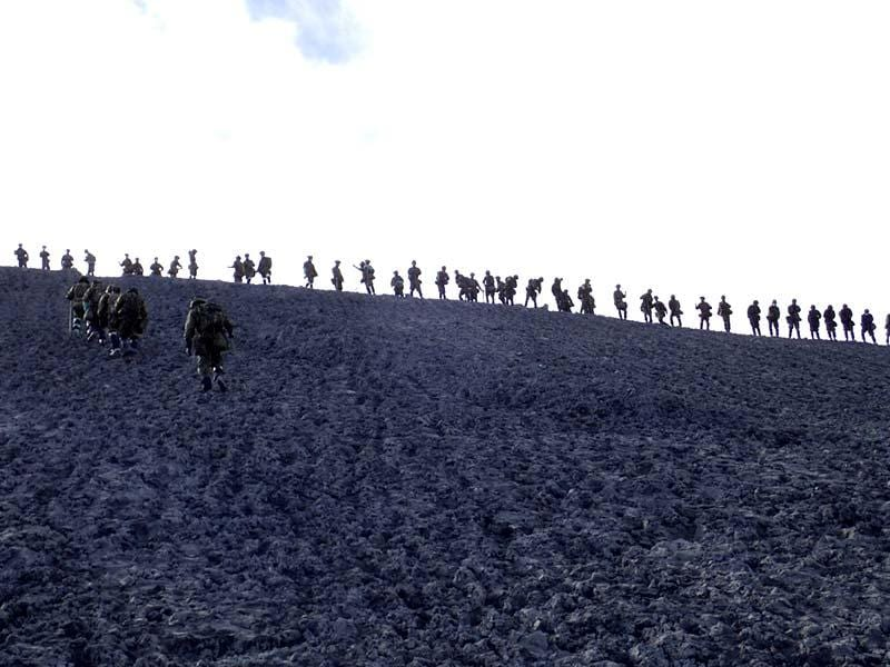 Japan Self-Defense Force (JSDF) soldiers conduct rescue operations near the peak of Mount Ontake, which erupted September 27, 2014. (Reuters)