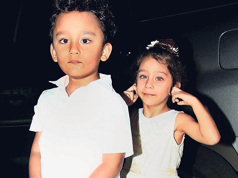 Bhushan Kumar celebrated his son Ruhaan's birthday along with his wife Divya Khosla Kumar and numerous celebrity kids, they included Sanjay Dutt's twins Shahraan and Iqra. (HT Photo)