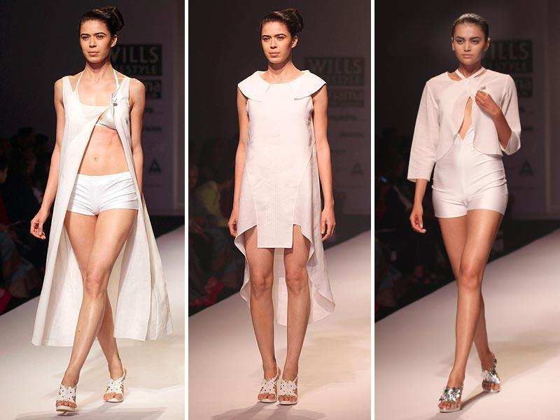 We loved National Award-winning designer Wendell Rodricks' all-white collection titled Yoga Calm. (PTI)