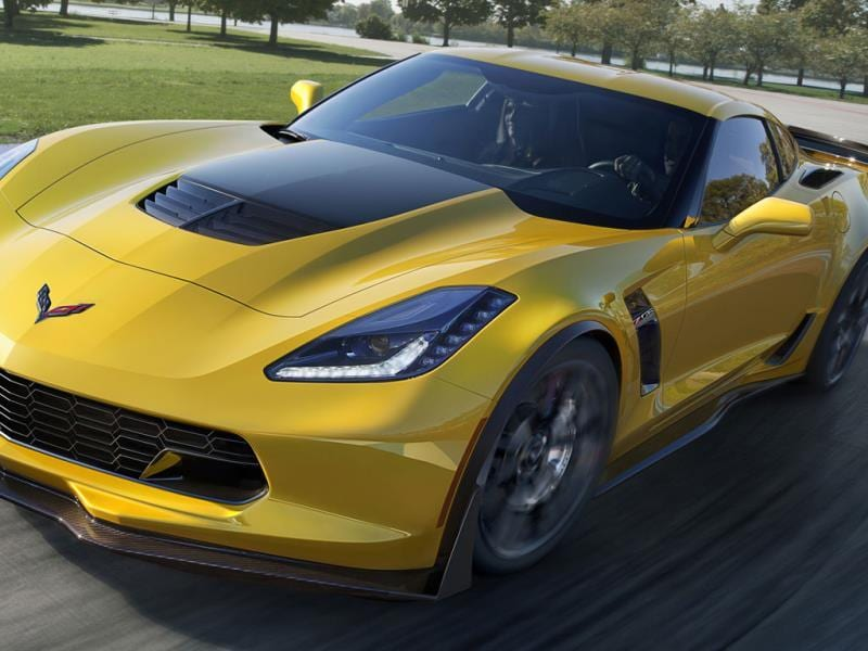 Corvette Z06 0-60 mph in 2.95 seconds : The fastest US car on the list and also potentially the cheapest, the Corvette is finally catching up to its European rivals in terms of top speeds and off-the-line acceleration. Photo:AFP