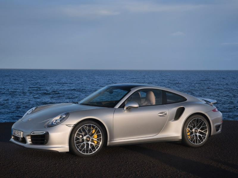 Porsche 911 Turbo S 0-60mph in 2.6 seconds : The latest generation of Porsche's flagship 911 is also its fastest but, unlike a lot of serious supercars, it's almost comfortable and practical enough to use as an everyday driver. Photo:AFP