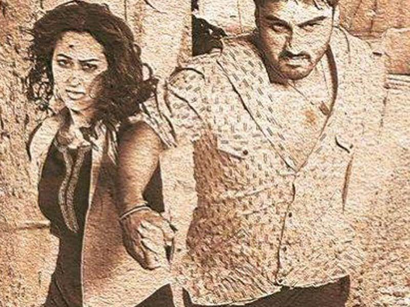 Arjun Kapoor and Sonakshi Sinha in a poster from Tevar.