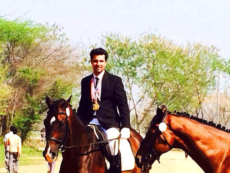 Showing off the medals his fav horses won, aren't you Randeep?