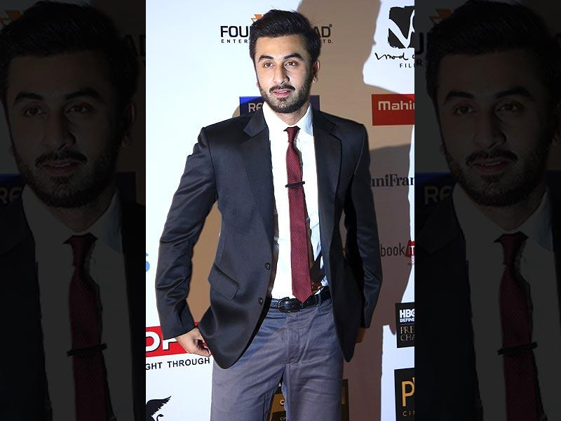 Actor Ranbir Kapoor arrives at the opening ceremony of the 16th Mumbai Film Festival in Mumbai, India on October 14, 2014. (AP)