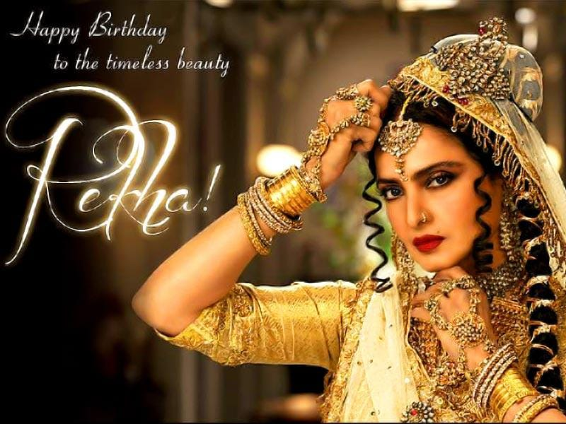 Rekha celebrated her birthday on the sets of Comedy Nights with Kapil when she appeared on the TV show to promote Super Nani.