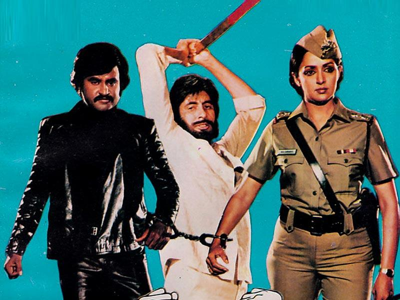 Hema Malini played a police inspector in 1983 film Andha Kanoon.