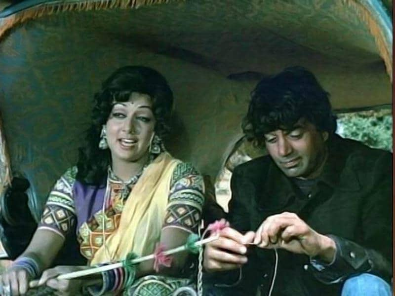 Hema Malini played a chirpy, bubbly village girl in the iconic film Sholay (1975).