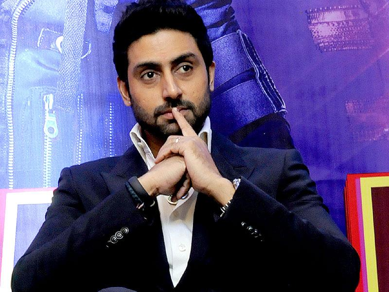 Bollywood actor Abhishek Bachchan visits Indore to share tidbits about his upcoming movie Happy New Year. (Arun Mondhe/HT photo)