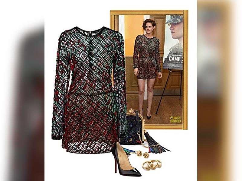 New transparency: J Mendel dress, Christian Louboutin shoes, Tory Burch rings, earrings via wayfair.com, bag via style.com