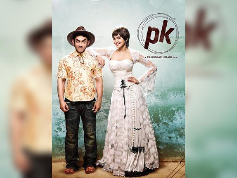 Aamir Khan, Anushka Sharma in PK poster.
