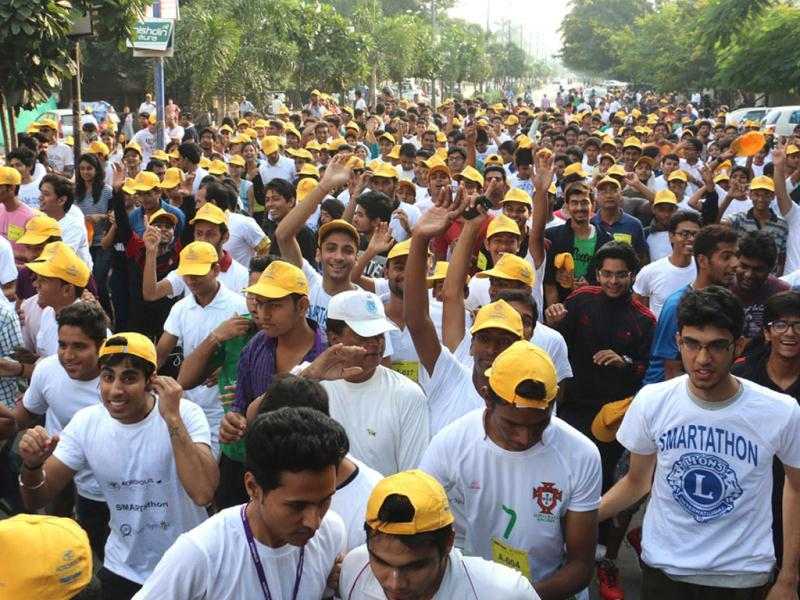 Smartathon, an event organised by Acropolis Group of Institutions, in Indore. (Arun Mondhe/HT photo)