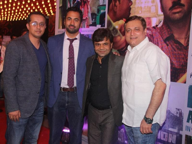 Ravi Walia, producer, Kal Penn, Rajpal Yadav and Manoj Joshi at the launch of the trailer of 'Bhopal: A prayer for Rain' during the 7th day of 16th Mumbai Film Festival. (IANS photo)