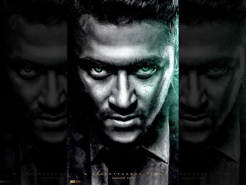 Suriya takes on a supernatural character, his first, in Masss. Don't miss his green eyes.