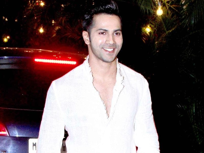 Varun Dhawan seen at Big B's Diwali party. (Yogen Shah, HT Photo)
