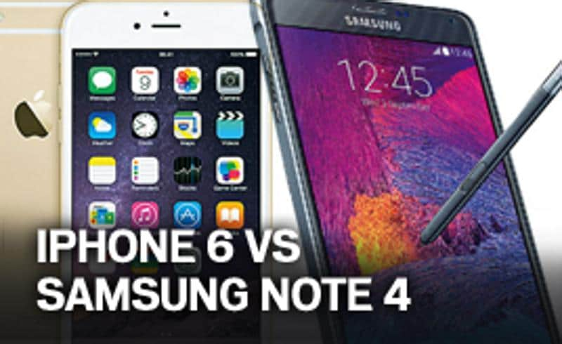 iPhone 6 vs Samsung Note 4
