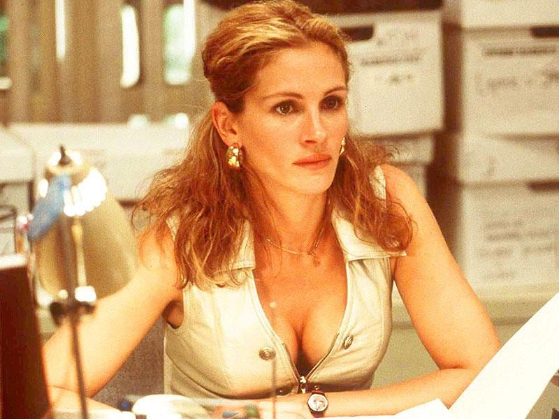 Plunging necklines and rising hemlines, when Julia chanelled activist Erin Brockovich on screen, she left nothing to chance.