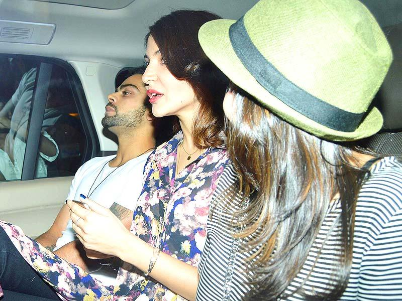 The duo with a friend in their car. Sharma recently rubbished the rumours of a wedding when there were reports that BCCI had allowed the 26-year-old actor to stay in the same hotel as Kohli, the vice-captain of Indian Cricket Team, during the tour of England as they were going to tie the knot soon.