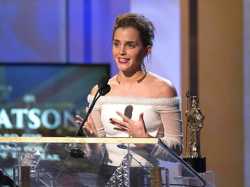 Actor Emma Watson accepts the Britannia Award for British Artist of the Year at the BAFTA Los Angeles Britannia Awards at the Beverly Hilton hotel in Beverly Hills, California October 30, 2014. (Reuters)