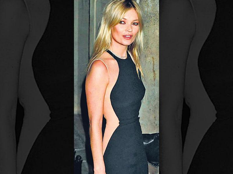 Creating curve magicSupermodel Kate Moss packed a fashion punch when she wore a short black dress by designer Stella McCartney, adorned with flesh-coloured panels that create a curvilicious optical illusion. Indulge in a similar design, but keep the styling and accessories minimal.