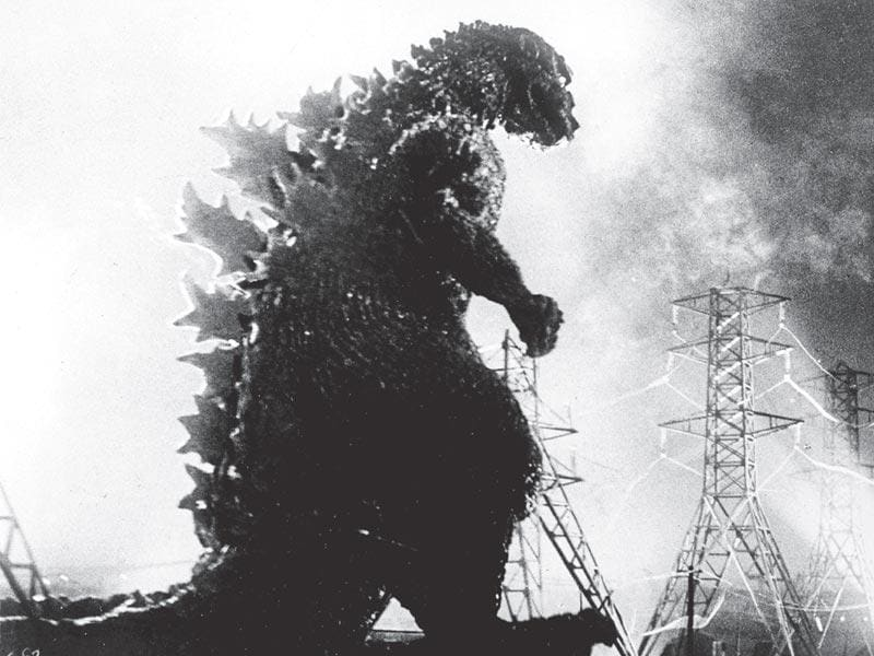 Godzilla made his first appearance on the big screen in this Ishiro Honda film as a symbol of the nuclear holocaust.
